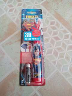 Firefly Superman 3D Turbo Power Toothbrush, Soft Bristles
