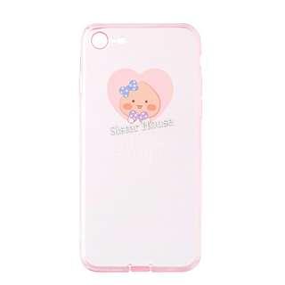 (包郵)🇰🇷Kakao Friends Apeach Pink Clear Phone Case 粉紅透明手機殼