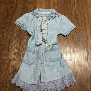 Guess soft maong dress 12-18mos (small size)