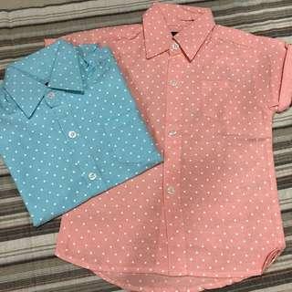 🆕Toddler Pokka Dot Shirt- PRICE FOR EACH