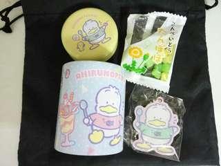 Sanrio Pekkle 鐵罐及吊飾
