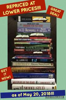 REPRICED BOOKS!
