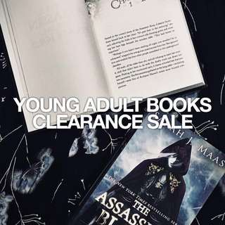 YOUNG ADULT BOOKS CLEARANCE SALE