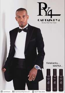 Captain PY4 Body Mist for men