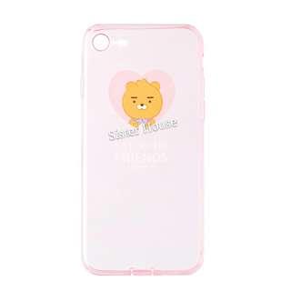 (包郵)🇰🇷Kakao Friends Ryan Pink Clear Phone Case 粉紅透明手機殼