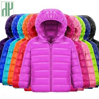HH children jacket Outerwear Boy and Girl autumn Warm Down Hooded Coat
