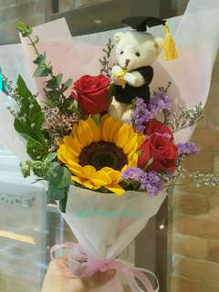 Sunflowers and Roses Bouquet