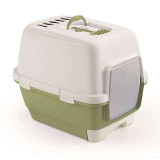 Stefanplast Cathy Clever & Smart Cat Litter Box-Green