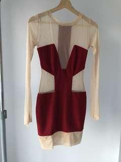 AQUA Bolivia Dress