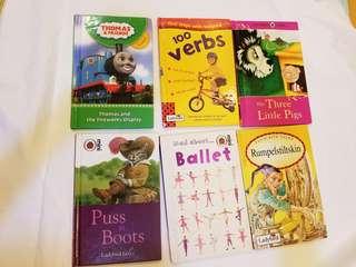 6本story books ladybird