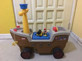 Little Tikes Pirate Ship Ride-On Toy Car