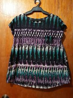 Abstract Design Blouse/Size: Small