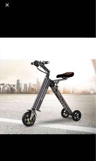 K8 電動折疊車《30公里版》8吋大輪子 5秒收納 11公斤 電動車