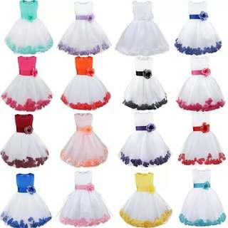 6 Color Girls Summer Dress Formal Wedding Vestidos Dresses Teenager