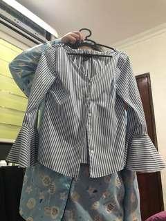 Primark Shirt, lengan tangan model mengembang, Size XS