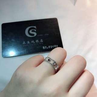 🚚 🌈香港正生純銀💕星星雙層戒指⭐️