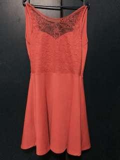 H&M open back dress