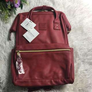FREE SHIP Anello Bag Leather School Backpack back pack 3 tags carrot comp