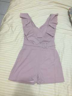🚚 粉色質感連身褲
