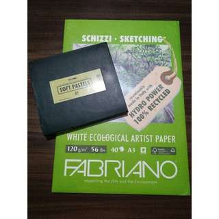 Soft Pastel and Sketch Pad both for 1300php