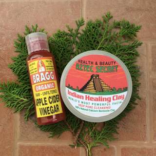 Aztec Healing Clay Mask Set (50g Aztec + 50ml ACV)