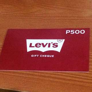Levi's Gift Cheque worth 500