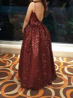 Backless sequined gown for RENT
