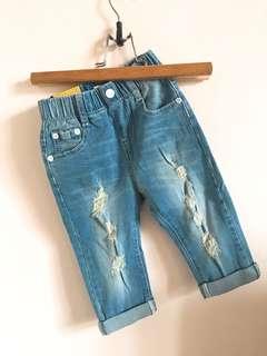 韓版刷破牛仔褲👖男女都能穿