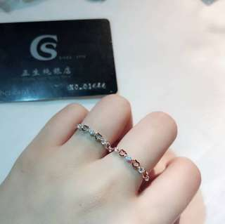 🚚 🌈香港正生純銀💕雙色愛心賺戒指⭐️