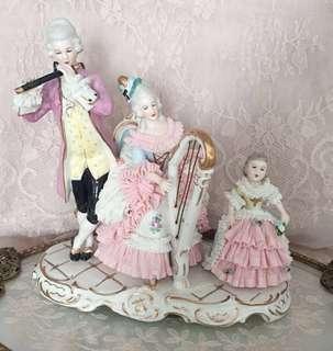 Vintage Dresden lace figurines