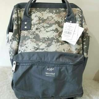 FREE SHIP Anello Bag Canvas School Backpack back pack camo3 gray