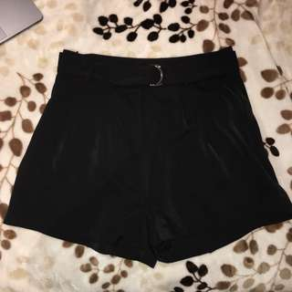 Supre black shorts with belt