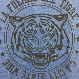 [Cotton On] La Fuerza Del Tigre Blue T-Shirt
