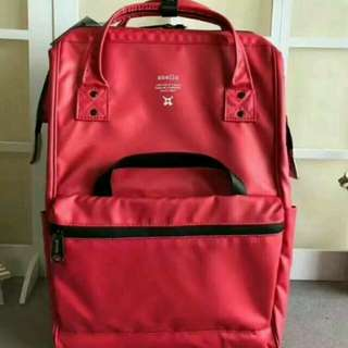 FREE SHIP Anello Bag Nylon Waterproof school backpack back pack red 4