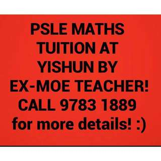 Quality PSLE MATHS TUITION