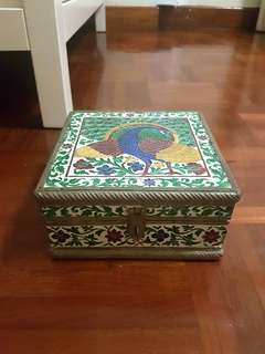 Peacock jewellery box
