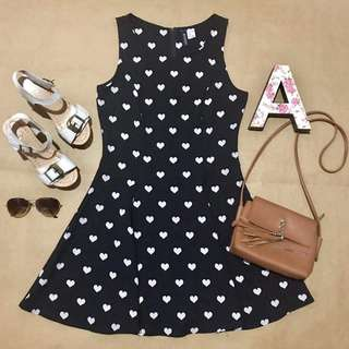 1AVE002 H&M Polka Heart Dress