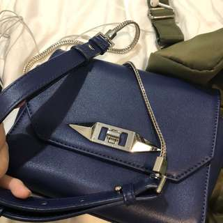 Charles & Keith navy blue bag