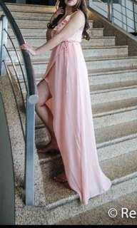 Forever 21 Pastel Pink Maxi Dress