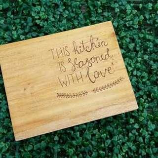 Personalized chopping board
