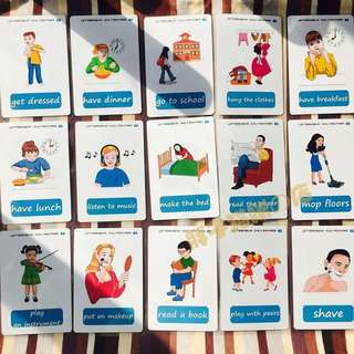 🌼 🌈DAILY ROUTINES🌈FLASH CARDS(41PCS)