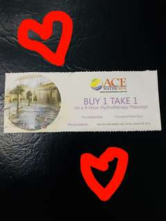 ACE WATER SPA BUY ONE TAKE ONE 😍😍😍