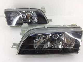 Toyota Corolla AE101 AE100 Front Headlight Lamps Black 1 Pairs LH RH New