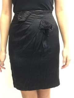 🚚 [OL必備]緞面·蝴蝶結·高質感窄裙