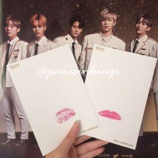 WTS Wanna One Official MD Lipcard