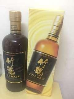 日本日華 竹鶴純麥威士忌 700ml Nikka TAKETSURU Pure Malt Whisky
