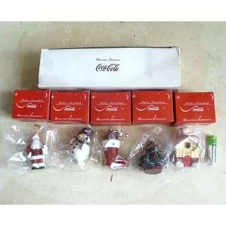 90年代產品外國版可口可樂迷你聖誕掛飾一套5個
