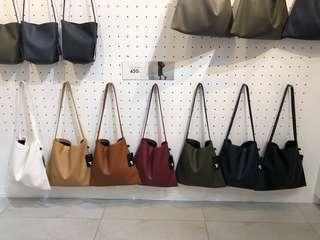 Bangkok Faux Leather Bag in Dark Brown