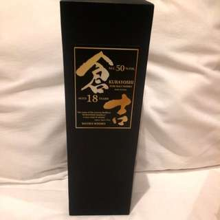 日本倉吉KURAYOSHI18年純麥芽威士忌Whisky 700ML