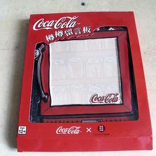 全新未用過可口可樂留言板一個